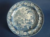 Fine Staffordshire Pearlware 'Boy Piping' Dinner Plate c1820